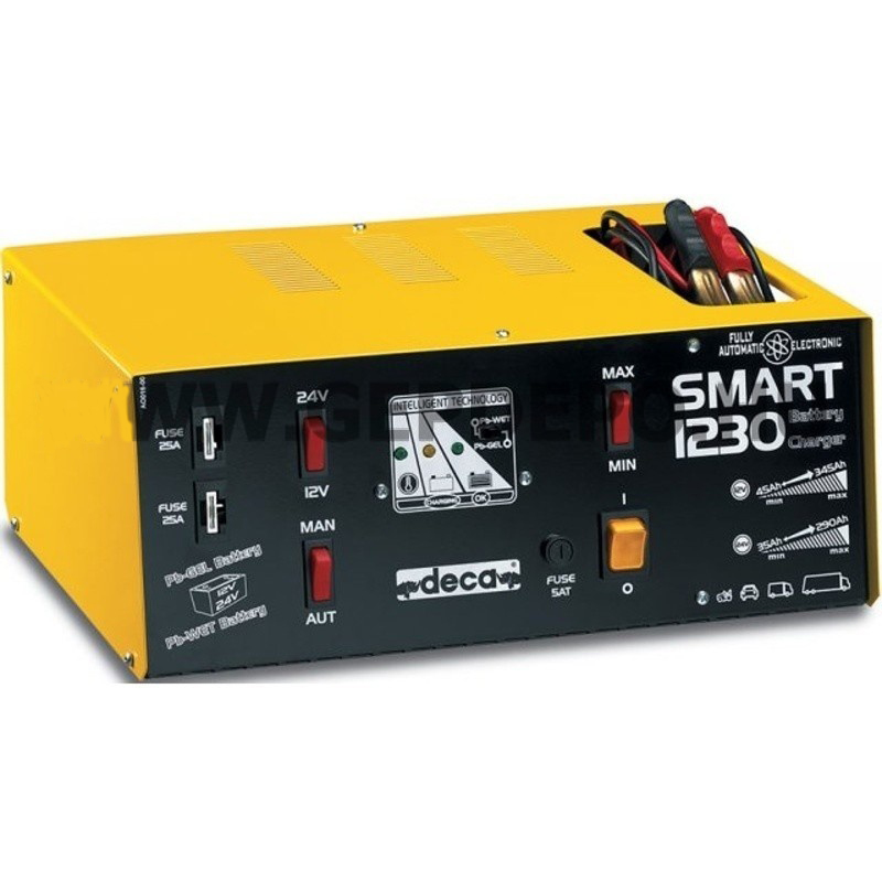شارژر و استارتر اتوماتیک باتری خودرو Smart 1230 دکا